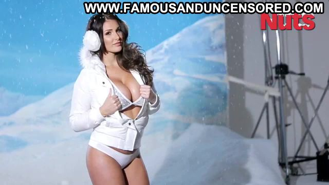 Lucy Pinder Nuts Photoshoot Christmas Lingerie Uniform Doll