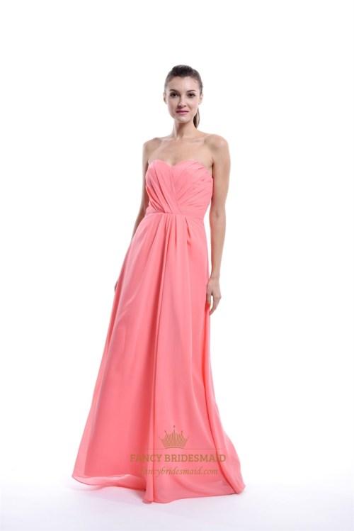 Medium Of Coral Color Dress