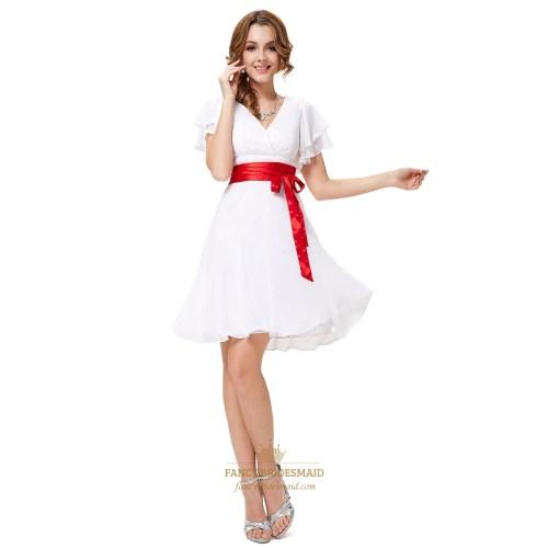 Medium Crop Of White Bridesmaid Dresses