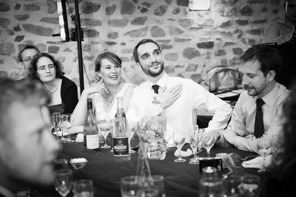 Emotions des mariés pendant les discours de leur mariage.