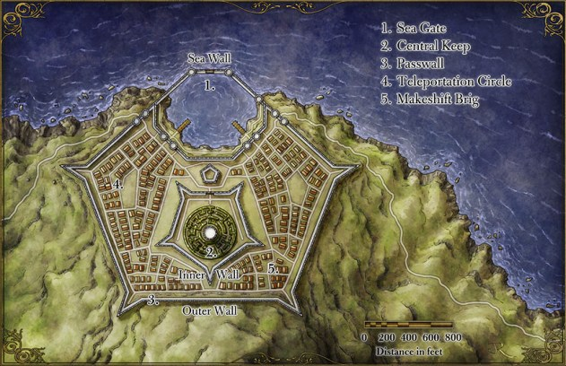 Star Fort Fantasy Map