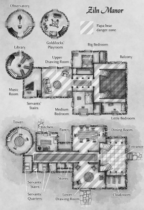 Manor House fantasy dungeon map