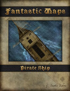 Pirate ship fantasy map pack