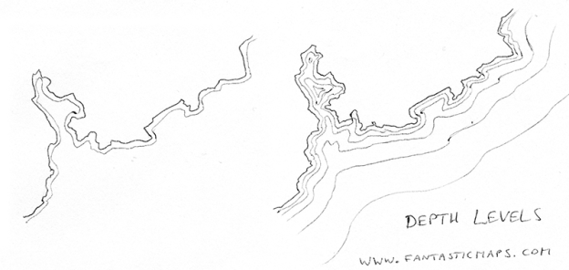 Drawing Old-fashioned Coastal Waters