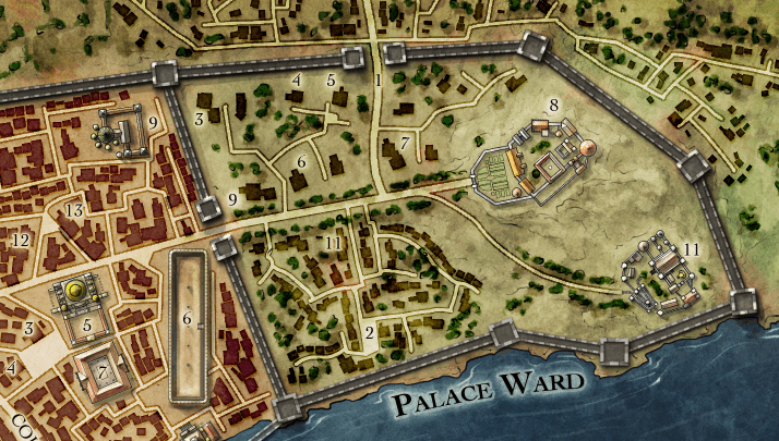 Snapshot of a city map