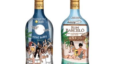 Moderna de Pueblo ilustra la botella de Ron Barceló de Desalia 2015