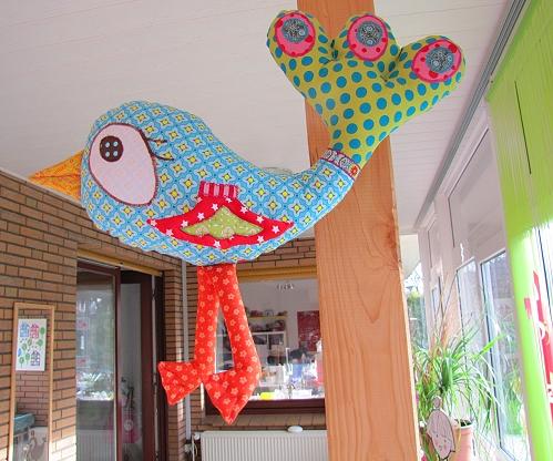 Schnittmuster Vogel, Kissen, Anleitung zum Nähen, farbenmix