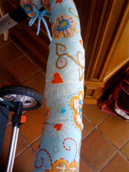 Kinderwagenbügel Umhüllung nähen, farbenmix