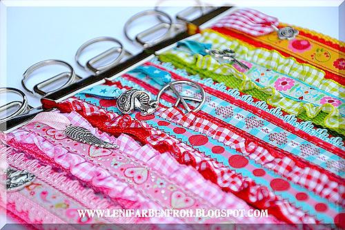 Schlüsselanhänger selber machen, Gurtnad, Webband, farbenmix