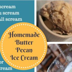Easy Butter Pecan Ice Cream