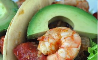 Mexican Shrimp Tomato and Chili Wraps