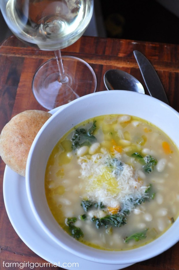 Emeril's Tuscan White Bean Soup Recipe | farmgirlgourmet.com