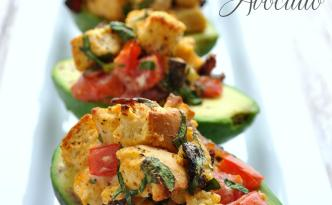 BLT Stuffed Avocado via farmgirlgourmet.com
