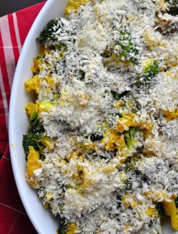 Veggie Mac & Cheese Gratin