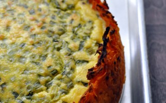 Goat Cheese Quiche with Sweet Potato Crust via farmgirlgourmet.com