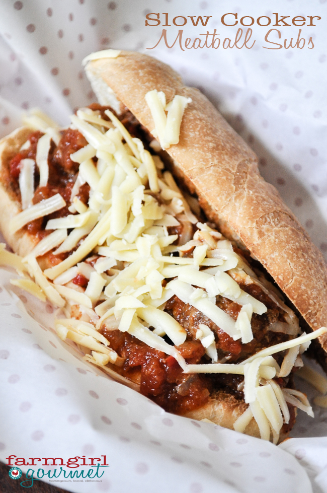 Slow Cooker Meatball Subs | farmgirlgourmet.com
