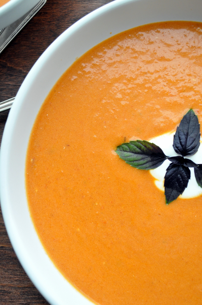 Chipotle Creamy Tomato Soup   farmgirlgourmet.com