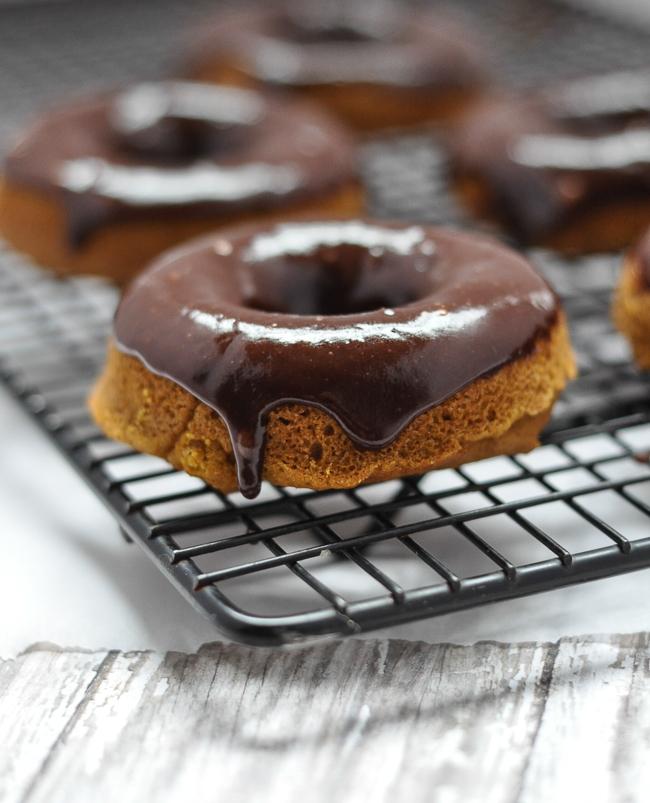 Gluten-Free Pumpkin Scones with Chocolate Icing