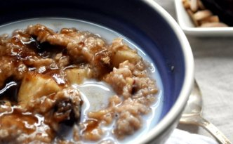 Quick Oatmeal with Fruit & Nuts | farmgirlgourmet.com