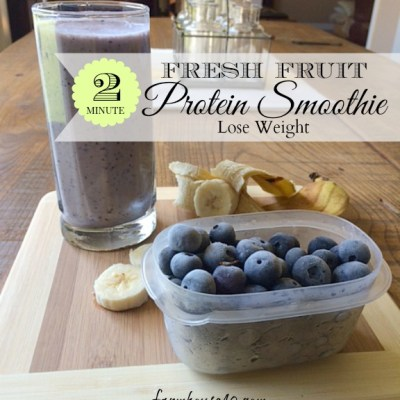 2 Minute Protein Smoothie