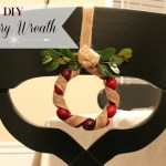 DIY Cranberry Wreath