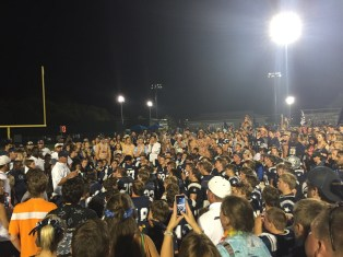 Coach after OR game, Crowd