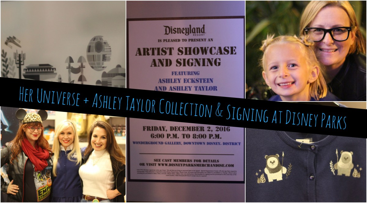 Ashley Eckstein & Ashley Taylor Team Up For Disney Parks Holiday Apparel and Signings!