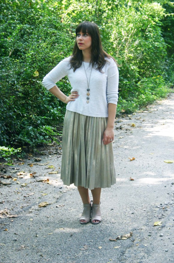jeanne-fbc-zara-metallic-pleated-midi-skirt-oatmeal-cropped-sweater-taupe-peep-toe-shooties-paperdolls-trina-drop-stone-necklace-6