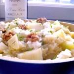 Salade de quinoa fenouil, poires, chèvre frais