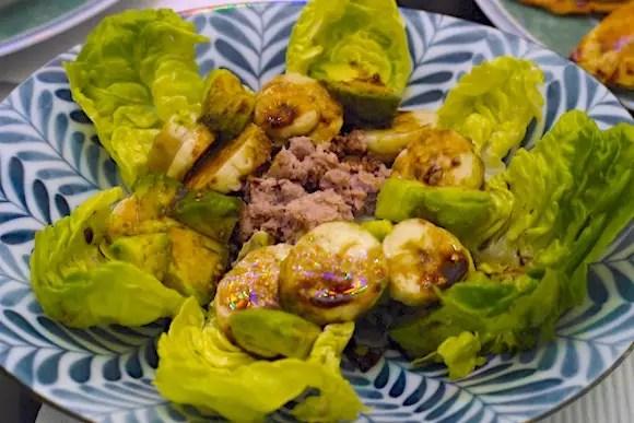salade argentine banane avocat thon