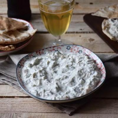 Tavuk salata (kind of chicken and pickle tzatziki)