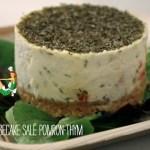 Cheesecake salé poivron thym