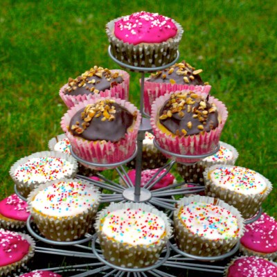Pyramide de cupcakes