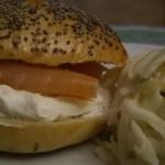 Bagels&lox (cream cheese/saumon fumé)