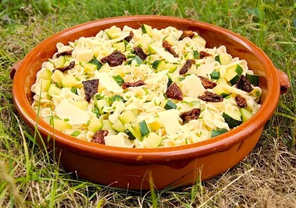 salade pate courgettes citron