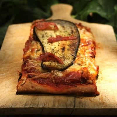 Pizzettas aux aubergines