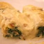 Cannelloni aux épinards, jambon de Parme et Parmigiano Reggiano