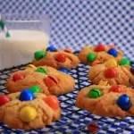 Cookies beurre de cacahuètes-M&M's