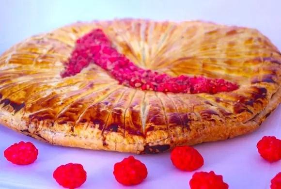 galette des rois pralines roses framboises