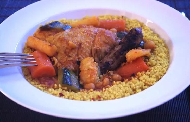 Couscous facile traditionnel légumes poulet