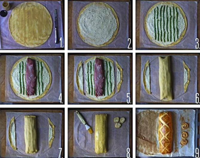 filet mignon croutre fromage frais haricots verts