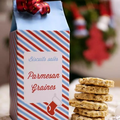 Biscuits apéritifs aux graines et au parmesan
