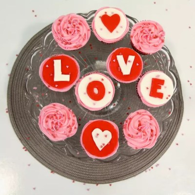 Cupcakes red velvet de la St Valentin