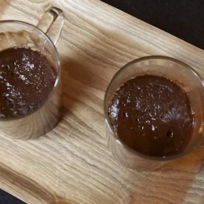 Chocolate mug cake (Gâteau au choc, 8mn chrono aux micro-ondes)