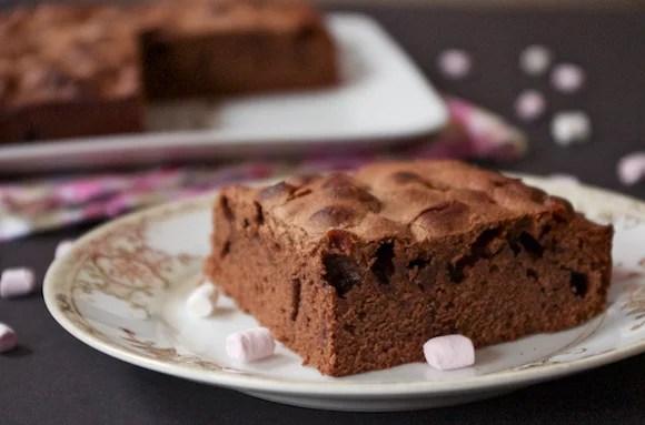 gateau au chocolat mini-chamallows