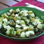 salade lentilles avocat pomme 150x150 Index des recettes