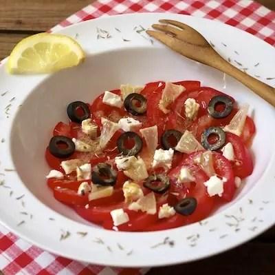 Salade de tomates citron-chèvre de MiniCook