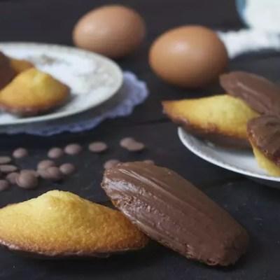 Madeleines vanille au chocolat