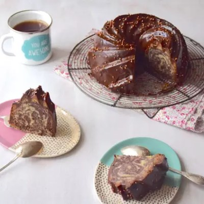 Bundt cake marbré