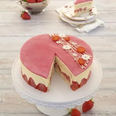 Ces coquines de fraises – Fraisier traditionnel